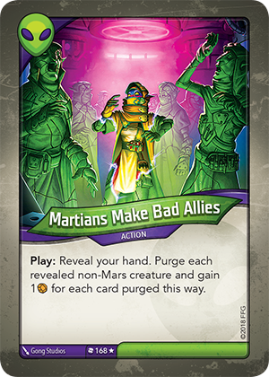Card image for Martians Make Bad Allies