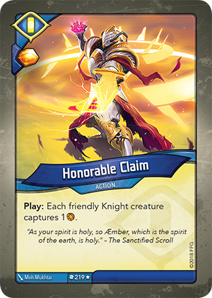 Card image for Honorable Claim