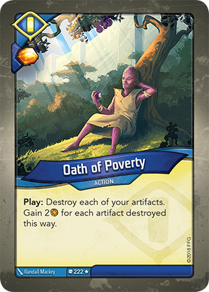 Card image for Oath of Poverty