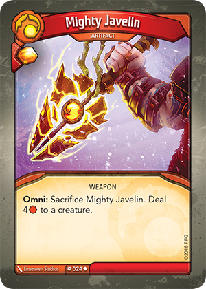 Card image for Mighty Javelin