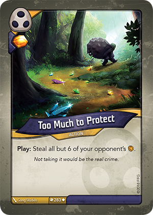 Card image for Too Much to Protect