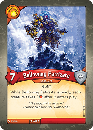 Card image for Bellowing Patrizate